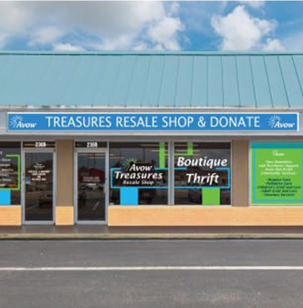 Treasures Resale Shop and Donate entrance