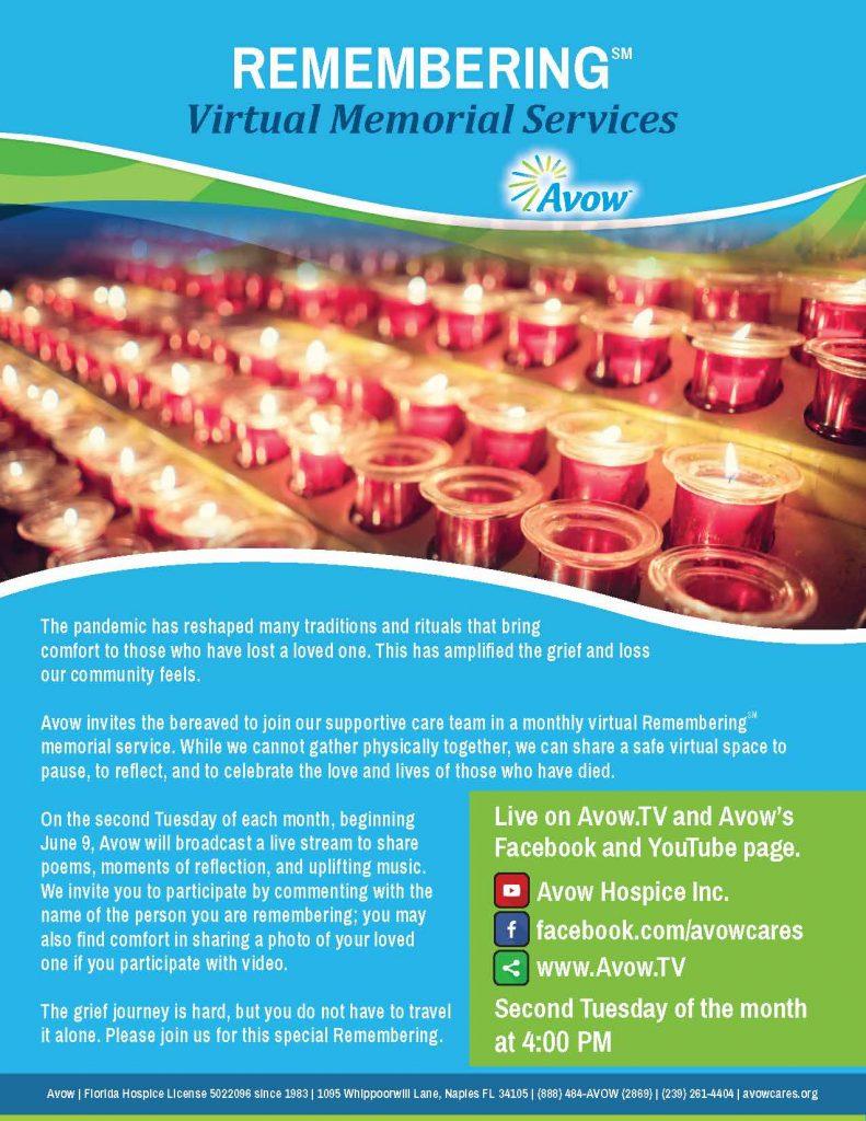 Virtual Memorial Flyer