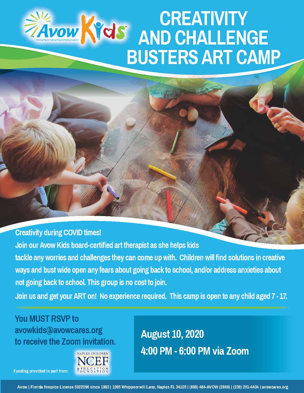 Creativity and Challenge Busters Art Camp