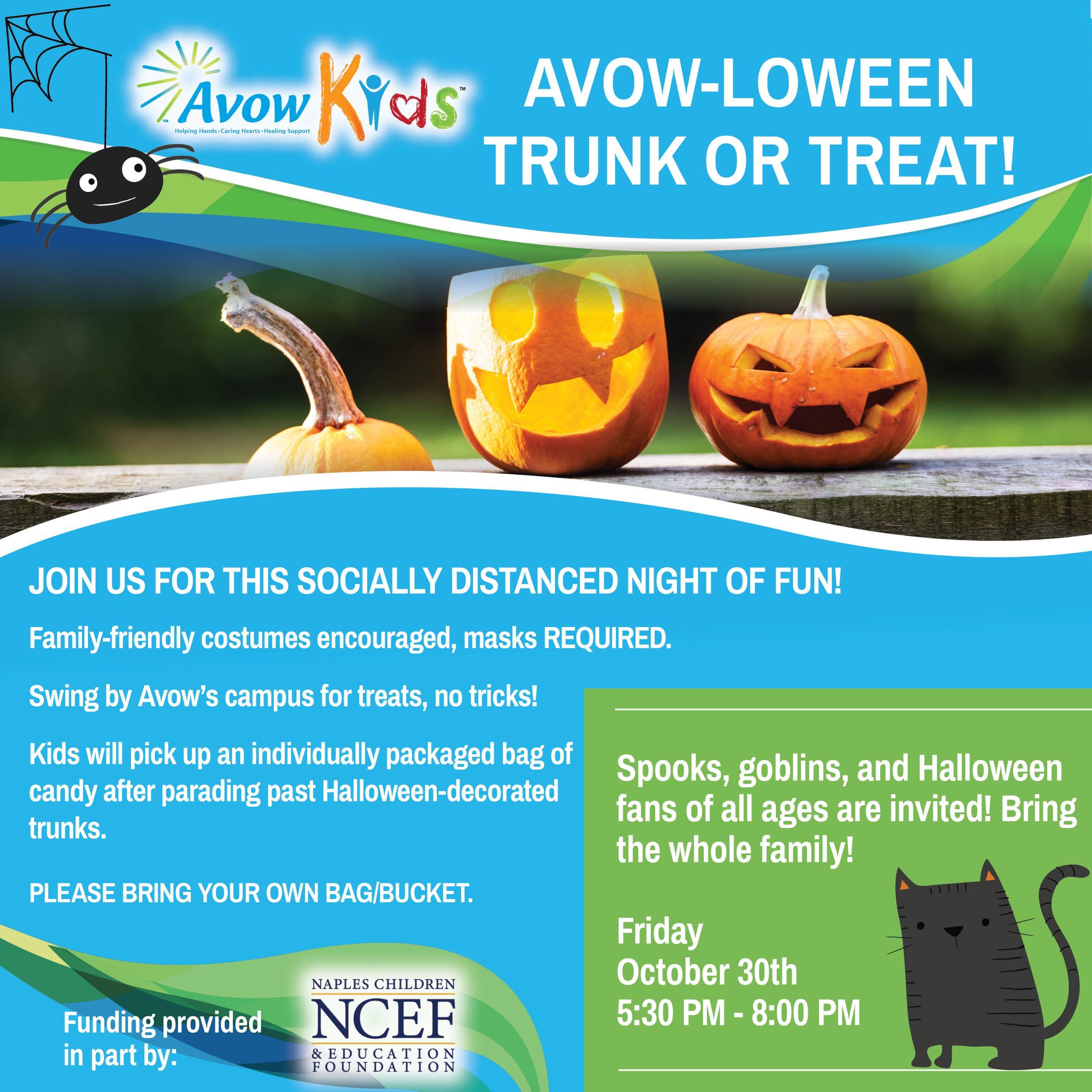 Avow-loween Trunk or Treat! 9-28-2020