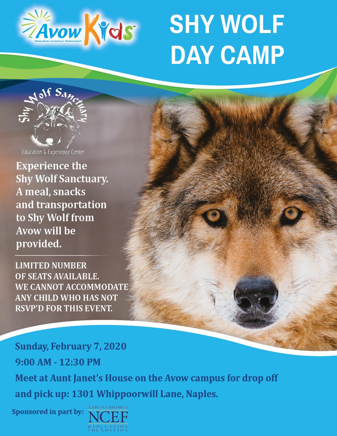 Avow Kids Shy Wolf Sanctuary Camp Feb 2021